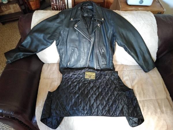 Photo Genuine Cowhide Leather Braid Detail Motorcycle Jacket with Liner XL - $68 (Columbus)